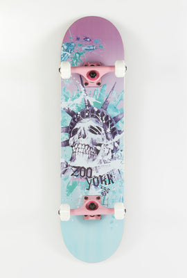 Zoo York Liberty Skull Skateboard 8.2