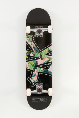 Zoo York Black Floral Skateboard 7.75