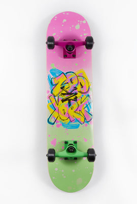 Zoo York Neon Splatter Skateboard 7.75