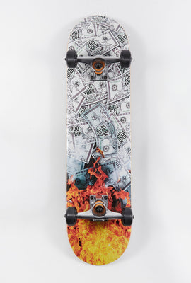 Zoo York Burning Money Skateboard 7.75