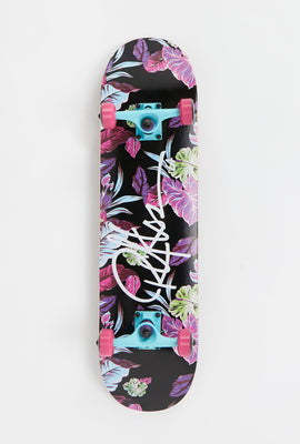 Young & Reckless Floral Print Skateboard 8