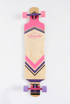 Wonderful Colourful Aztec Print Longboard 42