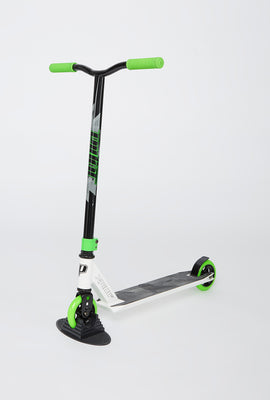 White and Green Pivot X-Ride S Scooter