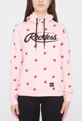 Young & Reckless Womens Fruit Print Hoodie