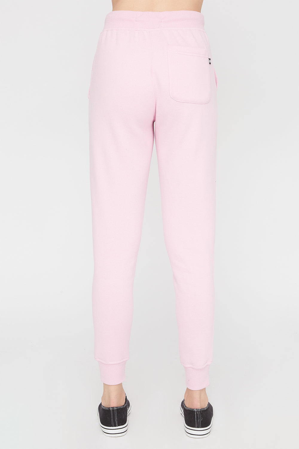 Zoo York Womens Embroidered Pastel Logo Jogger Light Pink