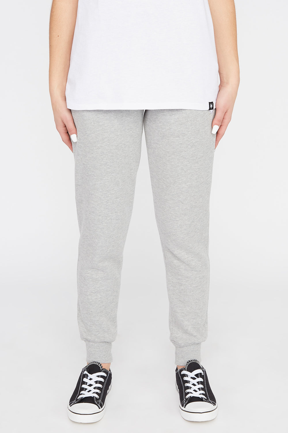 Zoo York Womens Embroidered Pastel Logo Jogger Heather Grey