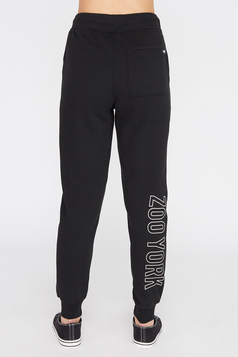 Zoo York Womens Chenille Patch Logo Jogger Black