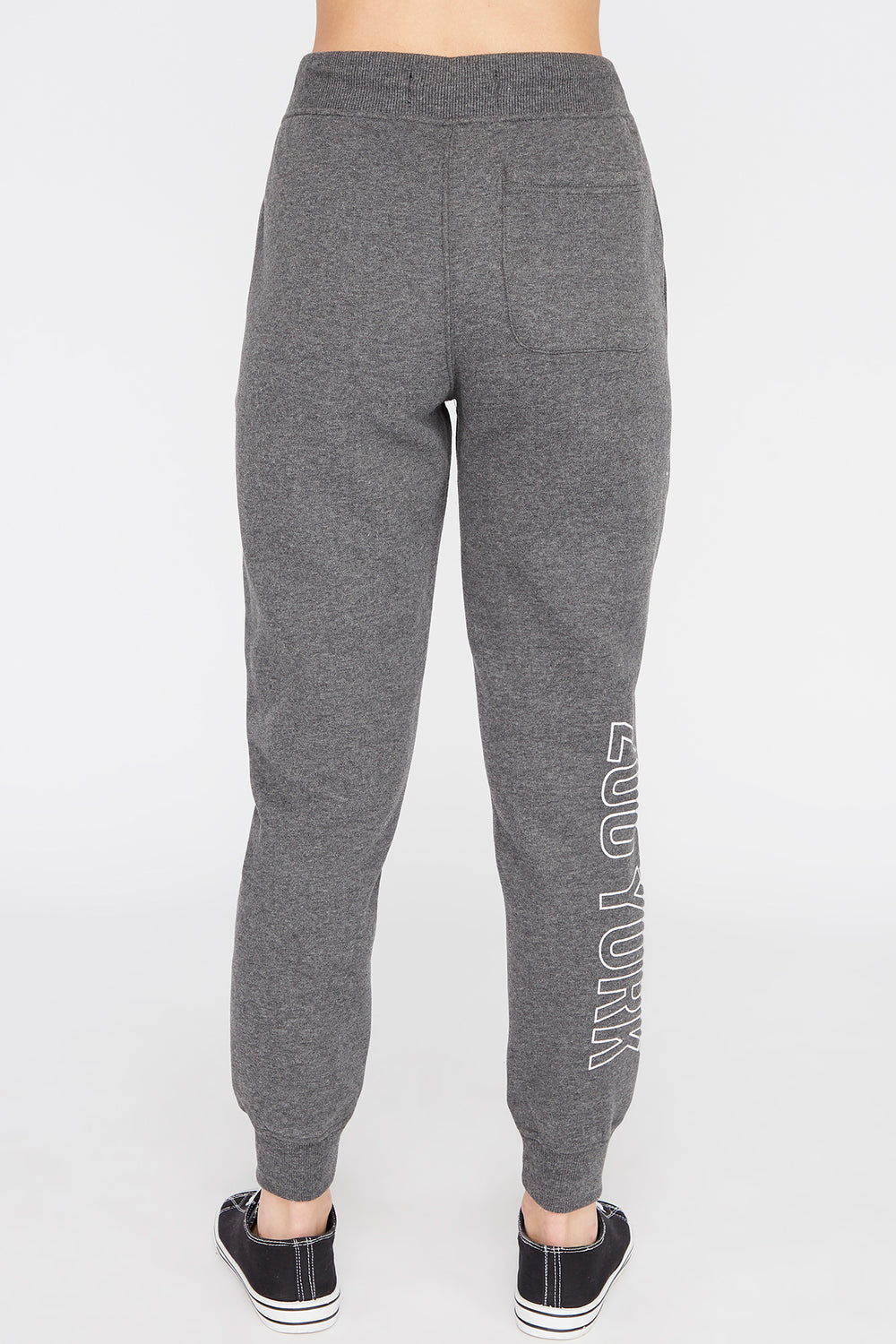 Zoo York Womens Chenille Patch Logo Jogger Charcoal