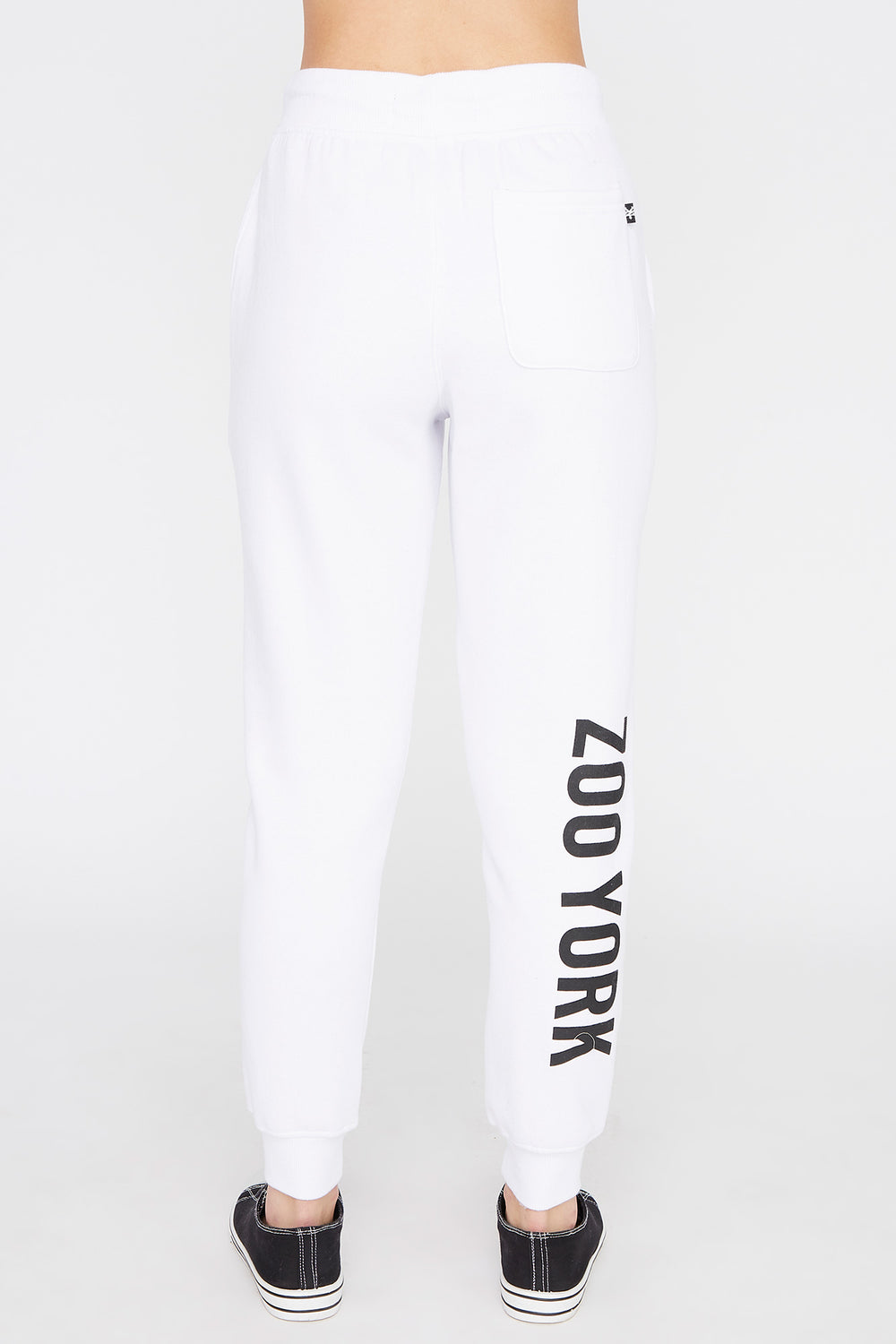 Zoo York Womens Chenille Patch Logo Jogger White