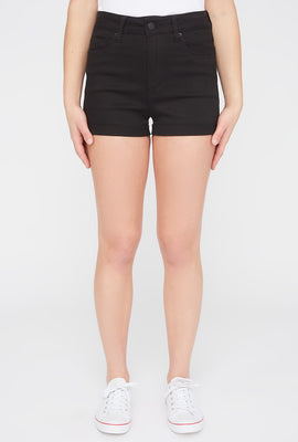 Zoo York Womens Black High Waisted Denim Short