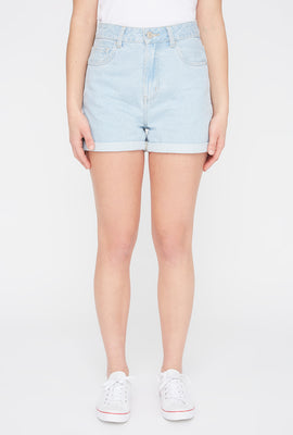 Zoo York Womens Light Wash Mom Jean Short