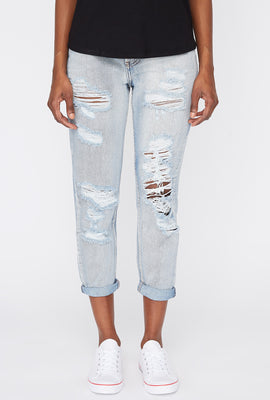 Zoo York Womens Cropped Mom Jeans