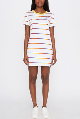 Zoo York Womens Striped T-Shirt Dress