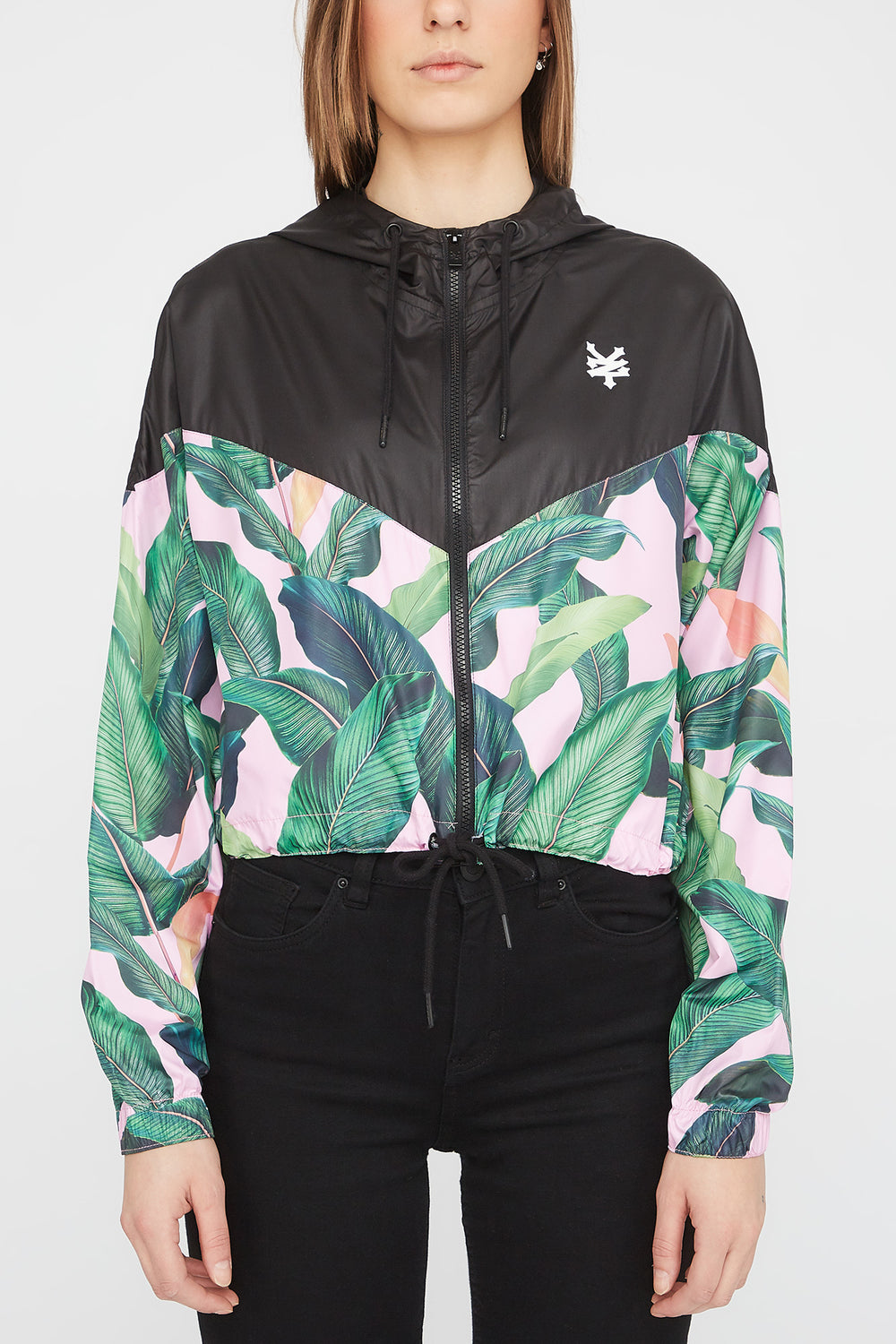 Zoo York Womens Tropical Jacket Solid Black