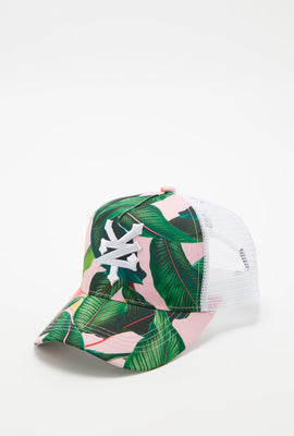 Zoo York Womens Tropical Print Trucker Hat