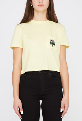 Zoo York Womens Rose Logo Cropped T-Shirt