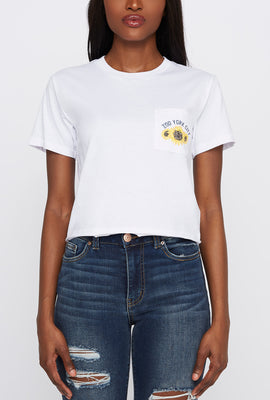 Zoo York Womens Sunflower Pocket T-Shirt