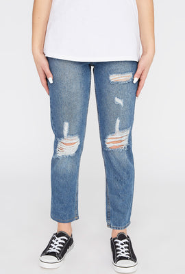 Zoo York Womens Distressed Mom Jeans