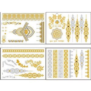 4 Golden Diverse patterns designs