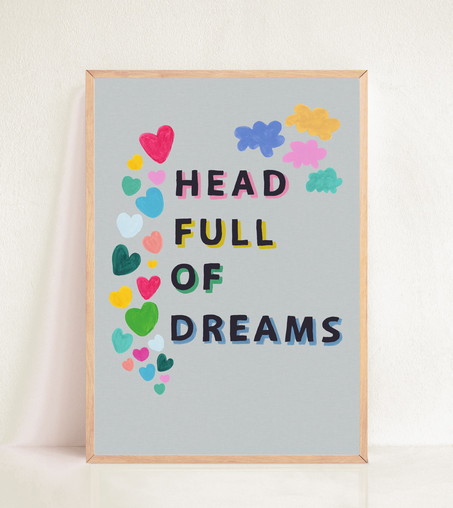 Head Full of Dreams - Grey Linen Effect