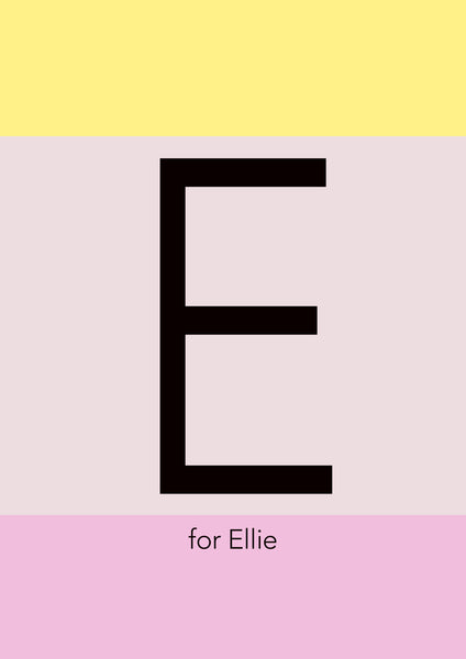 Personalised Initial Print - Ice Cream Colour Blocks