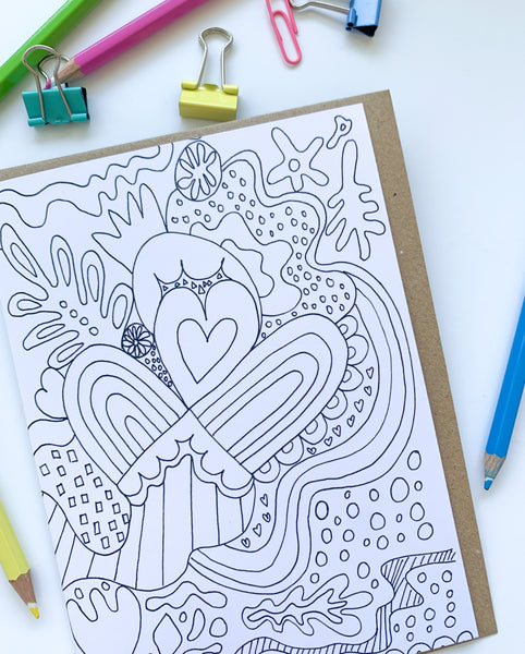 Pack of 8 Colouring In Birthday Cards