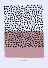 Load image into Gallery viewer, Contemporary Dots & Blocks - Dusky Pink