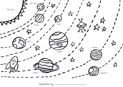 Solar System Colouring Printable (Download & Print & Post)