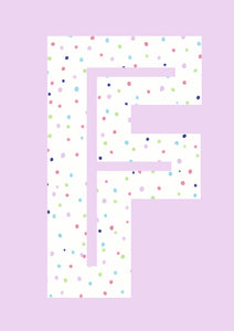 Rainbow Dot's Initial Print - Lilac