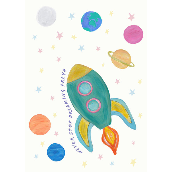Space Rocket Ship - Pastels