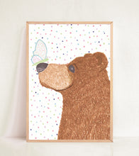 Load image into Gallery viewer, Bear & Butterfly Print