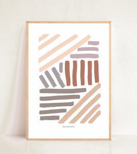 Contemporary Lines - Earthy Tones