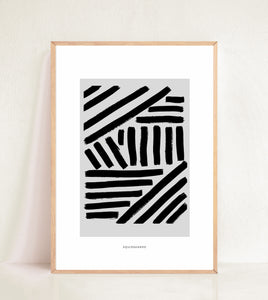 Contemporary Bold Lines - Black & Grey