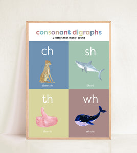 Consonant Digraphs - Muted