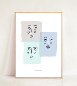 Contemporary Faces - Tonal Blocks