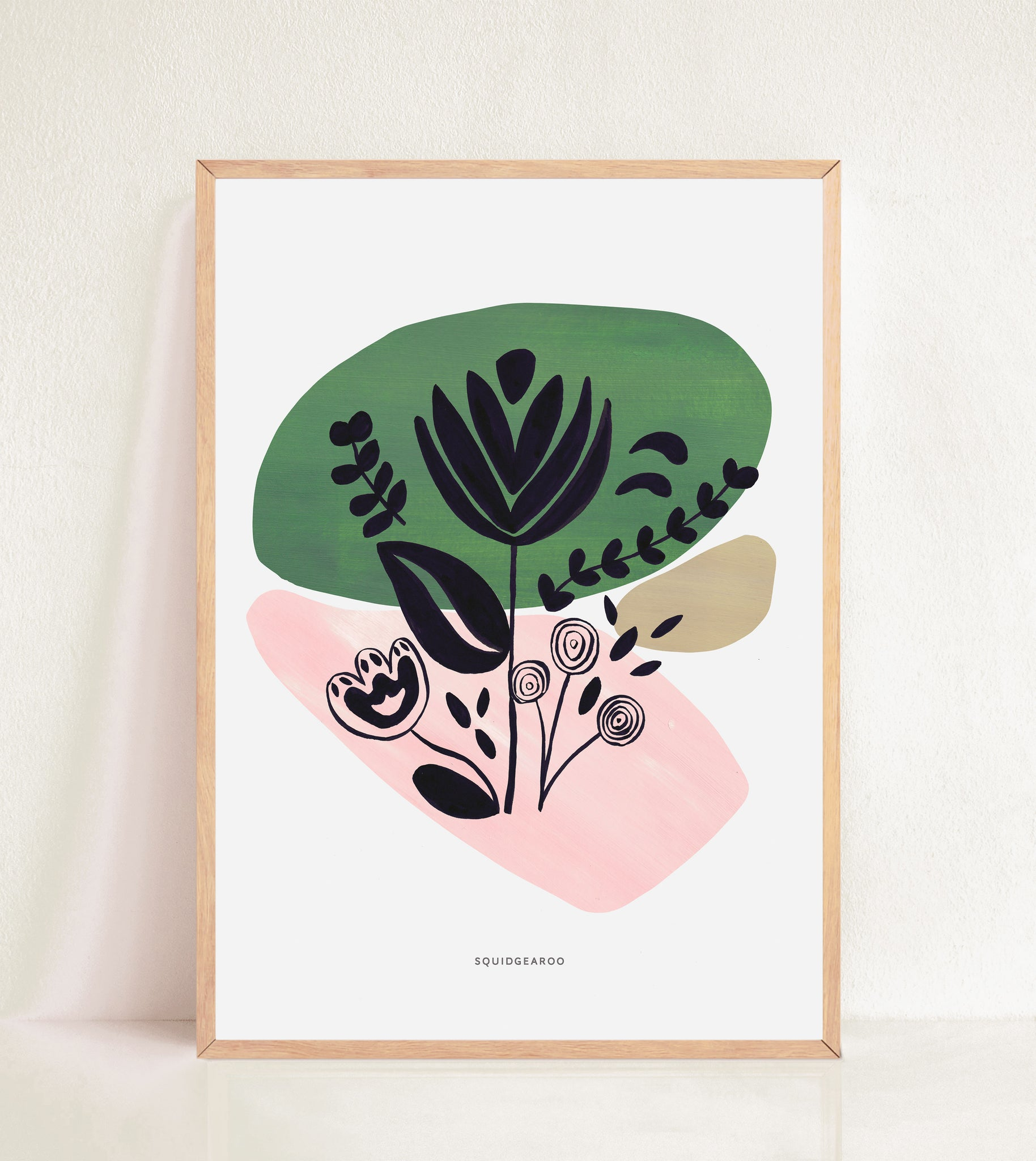 Abstract Flora - Colour Block Green