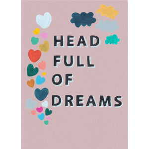 Head Full of Dreams peachy line effect print