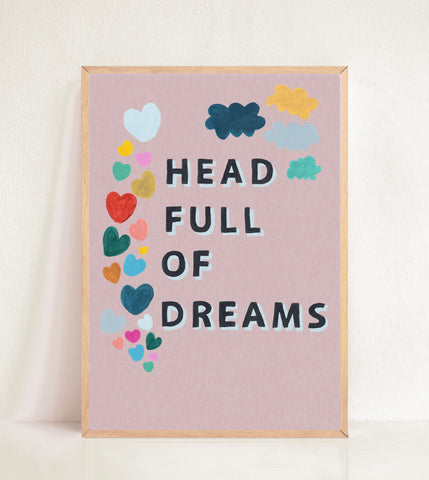 Head Full of Dreams - Peachy Linen Effect
