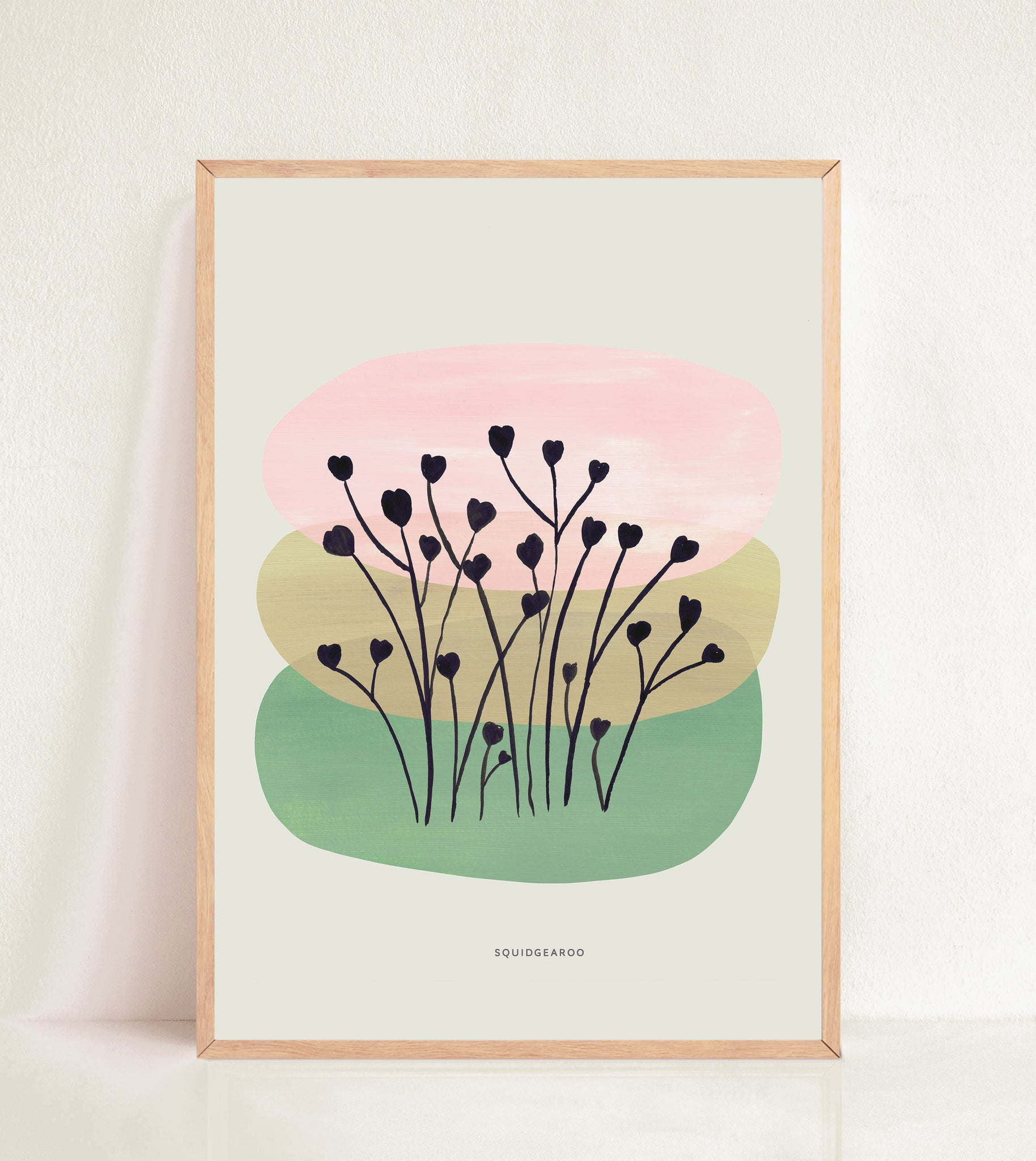 Abstract Heart Flowers - Colour Block