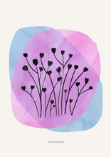 Load image into Gallery viewer, Abstract Heart Flowers - Ink Drops