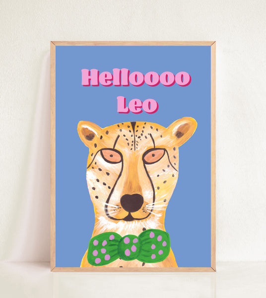 Helloooo Personalised Cheetah Print