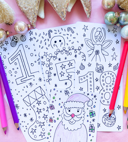 Advent Colouring Cards (24 cards)