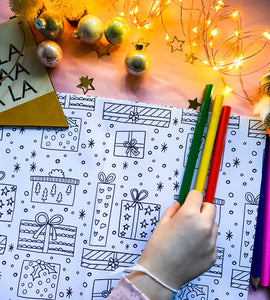 Christmas Colouring Wrapping Paper (5 sheets)