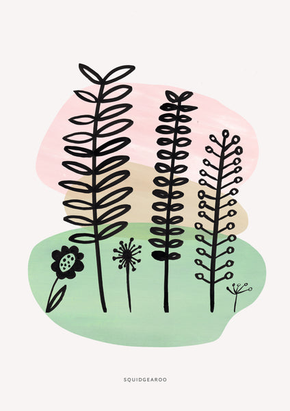 Abstract Fern & Flora - Colour Block
