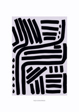 Load image into Gallery viewer, Lines & Curves Abstract Print - Black & Grey