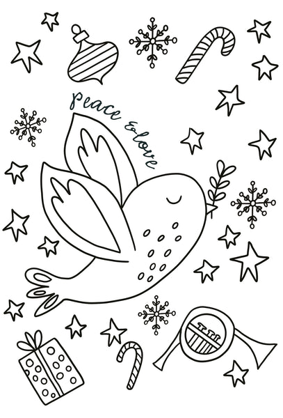 Christmas Colouring Cards (6 cards)