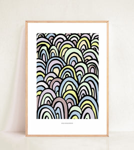Contemporary Rainbow Lines - Pastel