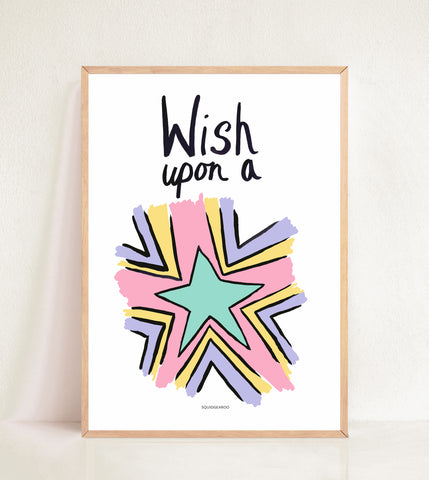 Wish Upon A Star - Pastel