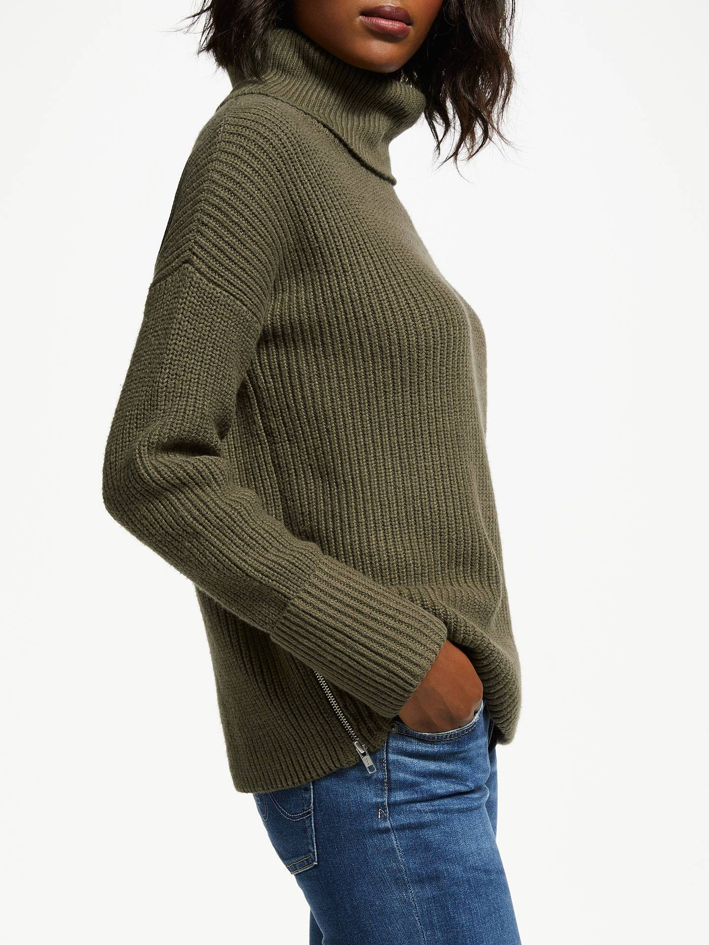 Great Plains Knitted Roll Collar