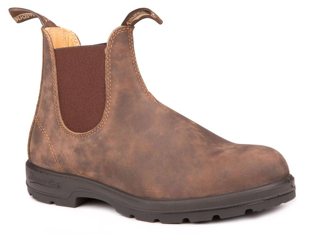 BLUNDSTONE Rustic Brown Leather Lined Shoe
